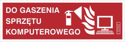 Znak Do gaszenia sprzętu komputerowego (202-10)