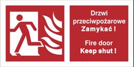 Obrazek dla kategorii Znak Drzwi przeciwpożarowe. Zamykać! Fire door Keep shut! (w lewo) (217-02)