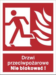 Obrazek dla kategorii Znak Drzwi przeciwpożarowe. Nie blokować! (w lewo) (217-04)
