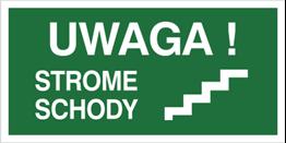 Obrazek dla kategorii Znak Uwaga strome schody (156-01)