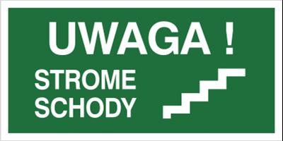 Znak Uwaga strome schody (156-01)