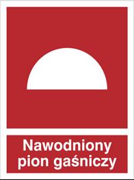 Obrazek dla kategorii Znak Nawodniony pion gaśniczy (218-01)