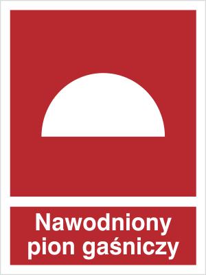 Znak Nawodniony pion gaśniczy (218-01)