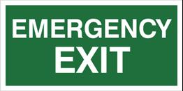 Obrazek dla kategorii Znak Emergency exit (806)