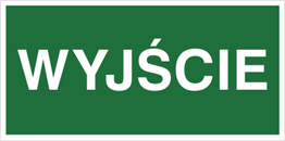Obrazek dla kategorii Znak Wyjście (816-01)