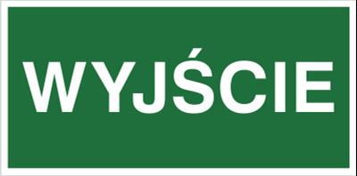 Znak Wyjście (816-01)