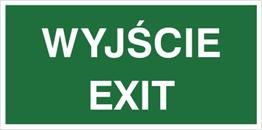 Obrazek dla kategorii Znak Wyjście exit (816-05)