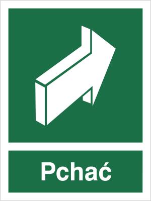Znak Pchać, aby otworzyć (817-01)