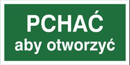 Obrazek dla kategorii Znak Pchać aby otworzyć (817-05)