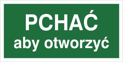 Znak Pchać aby otworzyć (817-05)