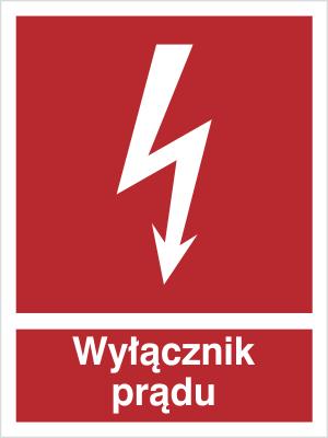 Znak Wyłącznik prądu (219-01)