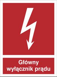 Obrazek dla kategorii Znak Główny wyłącznik prądu (219-04)
