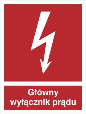 Znak Główny wyłącznik prądu (219-04)