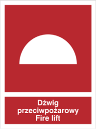 Obrazek dla kategorii Znak Dźwig przeciwpożarowy Fire lift (225-01)