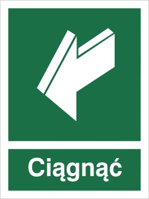 Znak Ciągnąć, aby otworzyć (818-01)