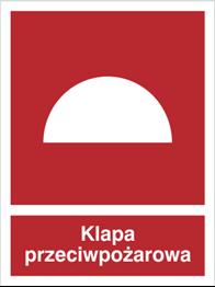 Obrazek dla kategorii Znak Klapa przeciwpożarowa (226-01)