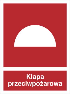 Znak Klapa przeciwpożarowa (226-01)
