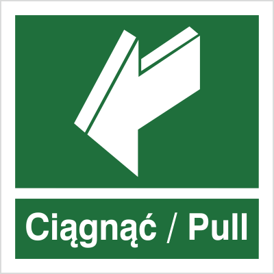 Znak Ciągnąć- Pull (818-03)