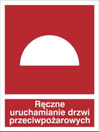 Obrazek dla kategorii Znak Ręczne uruchamianie drzwi przeciwopożarowych (227-01)