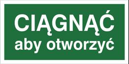 Obrazek dla kategorii Znak Ciągnąć aby otworzyć (818-05)