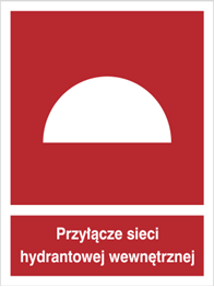 Obrazek dla kategorii Znak Przyłącze sieci hydrantowej wewnętrznej (229-01)