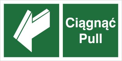 Znak Ciągnąć - Pull (818-06)