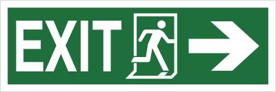 Znak Exit, w prawo (987-02)