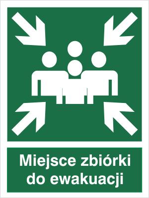 Znak Miejsce zbiórki do ewakuacji (120)