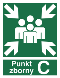 Obrazek dla kategorii Znak Miejsce zbiórki do ewakuacji - punkt zborny C (120-03)