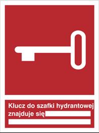 Obrazek dla kategorii Znak Klucz do szafki hydrantowej znajduje się … (230)