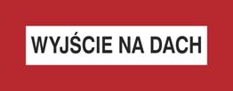 Obrazek dla kategorii Znak Wyjście na dach (231-05)