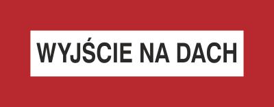 Znak Wyjście na dach (231-05)