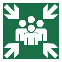 Obrazek dla kategorii Znak Miejsce zbiórki do ewakuacji (120-10)
