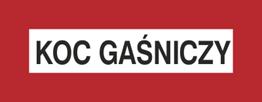 Obrazek dla kategorii Znak Koc gaśniczy (231-08)