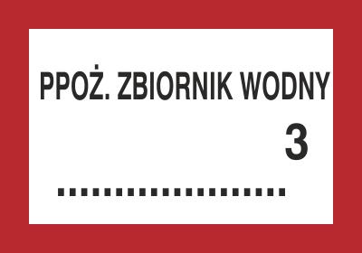 Znak Ppoż. zbiornik wodny … 3 (231-13)