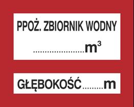Obrazek dla kategorii Znak Ppoż. zbiornik wodny … 3 Głębokość … m (231-27)