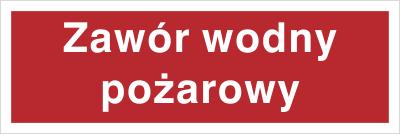 Znak Zawór wodny pożarowy (808-01)