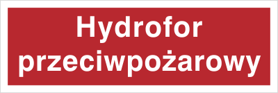 Znak Hydrofor przeciwpożarowy (808-03)