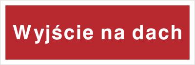 Znak Wyjście na dach (808-04)