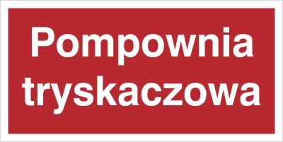 Znak Pompownia tryskaczowa (808-05)