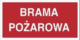 Obrazek dla kategorii Znak Brama pożarowa (812-02)