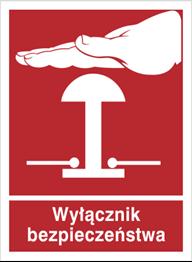 Obrazek dla kategorii Znak Wyłącznik bezpieczeństwa (854-05)