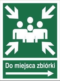 Obrazek dla kategorii Znak Do miejsca zbiórki (w prawo) (120-11)
