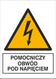 Obrazek dla kategorii Znak Pomocniczy obwód pod napięciem (330-08)