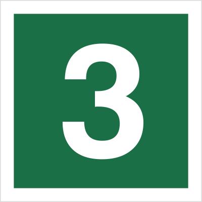Znak Stacja ewakuacyjna nr 3 (120-16)