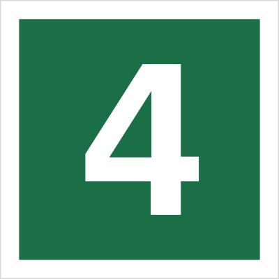 Znak Stacja ewakuacyjna nr 4 (120-17)