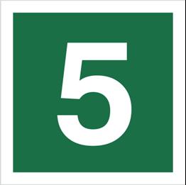 Obrazek dla kategorii Znak Stacja ewakuacyjna nr 5 (120-18)