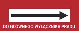 Obrazek dla kategorii Znak Do głównego wyłącznika prądu (w prawo) (231-18)