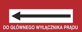 Obrazek dla kategorii Znak Do głównego wyłącznika prądu (w lewo) (231-19)