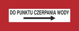 Obrazek dla kategorii Znak Do punktu czerpania wody (w prawo) (231-20)